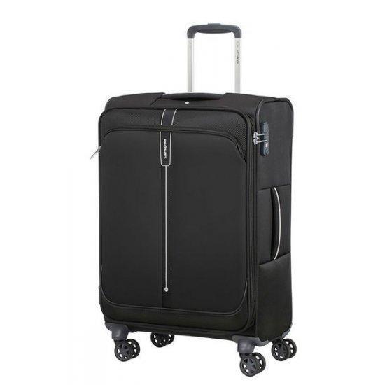 Куфар на 4 колела 66 см Samsonite Popsoda с разширение, черен