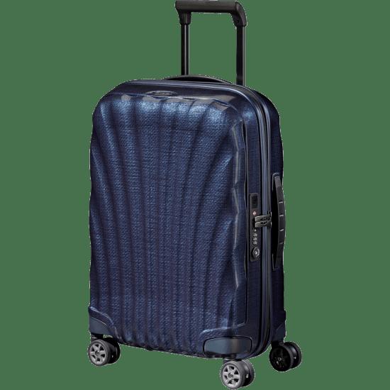 Куфар на 4 колела Samsonite C-Lite 55 cm с разширение, тъмносин
