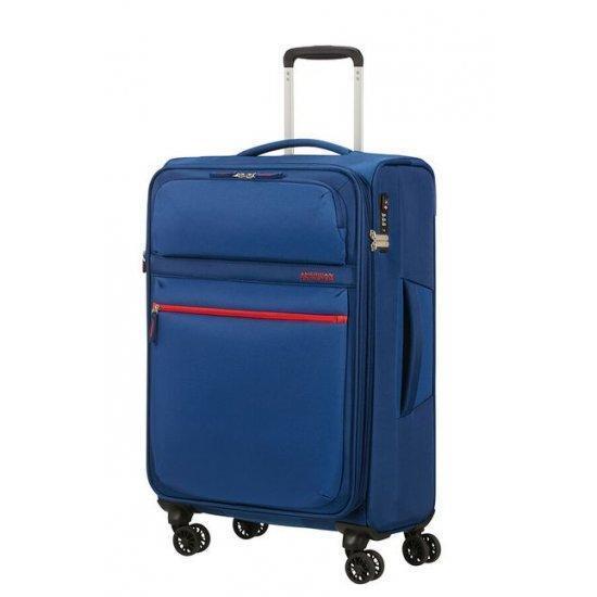 Куфар на 4 колела American Tourister MatchUP 67 см с разширение, син