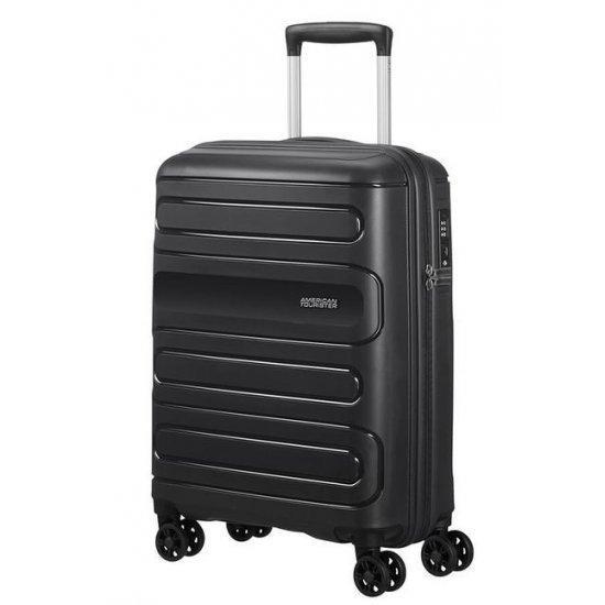 Куфар на 4 колела American Tourister Sunside 55cm в черен цвят