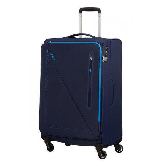 Куфар на 4 колела American Tourister Lite Volt 68 см тъмносиньо и светлосиньо
