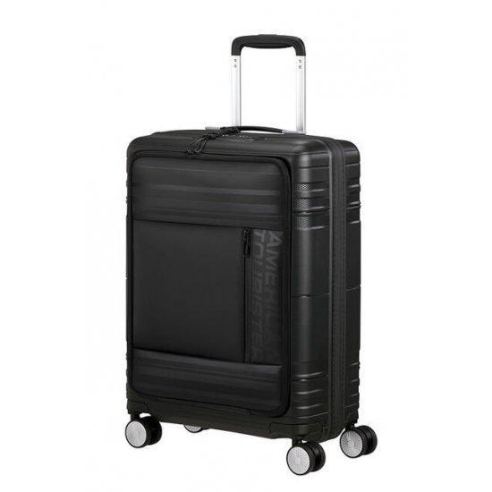 Куфар на 4 колела American Tourister Hello Cabin 55 см черен принт