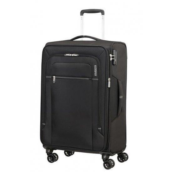 Куфар на 4 колела American Tourister Crosstrack 67 см с разширение черно и сиво