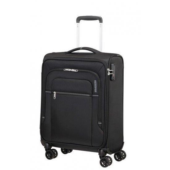 Куфар на 4 колела American Tourister Crosstrack 55 см черно и сиво
