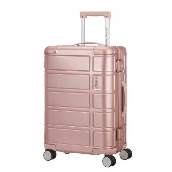 Куфар на 4 колела American Tourister Alumo 55 см, розов