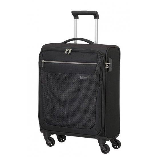 Куфар на 4 колела American Tourister Sunny South 55 см, черен