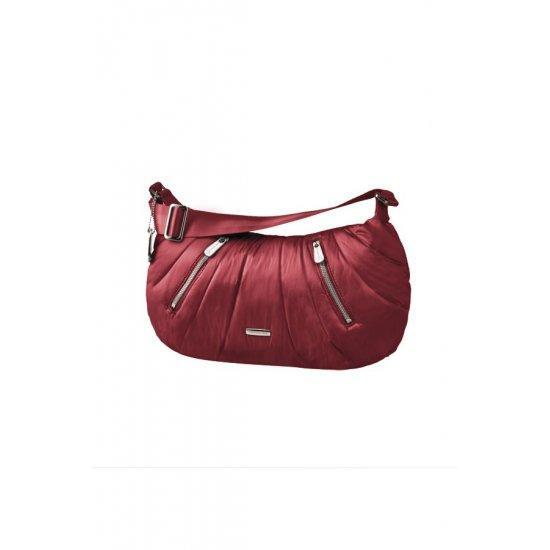 Червена дамска чанта Samsonite Hobo Midtown, среден размер