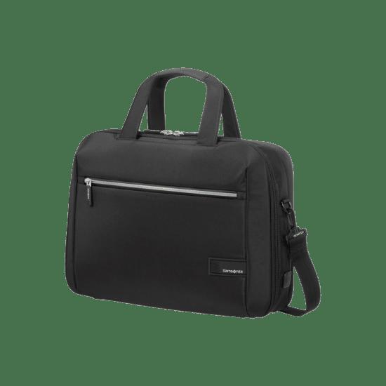 Черна бизнес чанта Samsonite Litepoint за 15.6 инчов лаптоп, с разширение