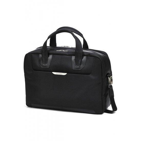 Черна бизнес чанта за 17 инчов лаптоп Samsonite Sidaho, размер М