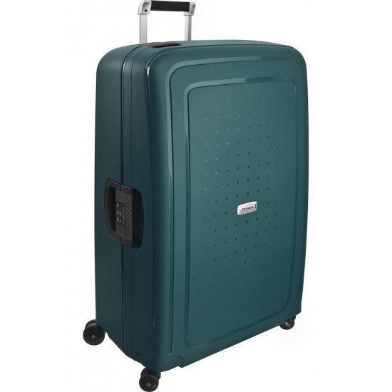 Куфар на 4 колела Samsonite S'Cure Dlx 81cm цвят зелен металик