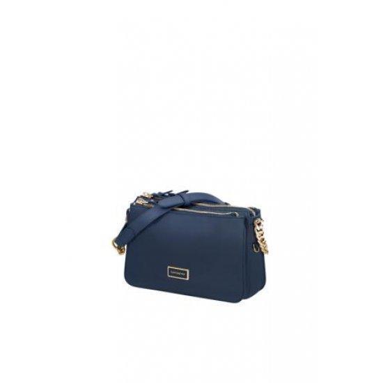 Дамска чанта Samsonite Karissa 2.0 размер S три отделения, тъмносиня