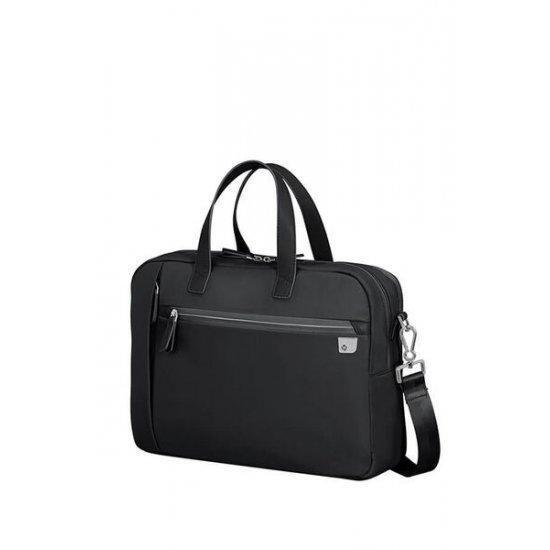 Дамска чанта Samsonite Eco Wave за 15,6 инча лаптоп две отделения, черна