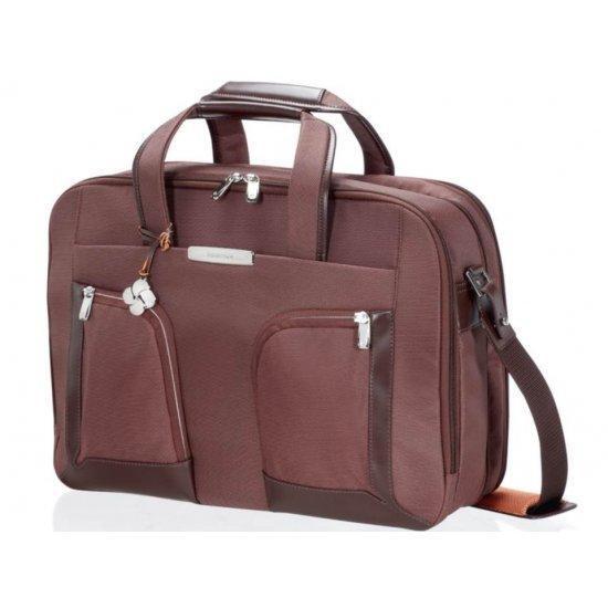 Бизнес чанта с разширение Samsonite S-Teem за 15,6 инча лаптоп, тъмнокафява