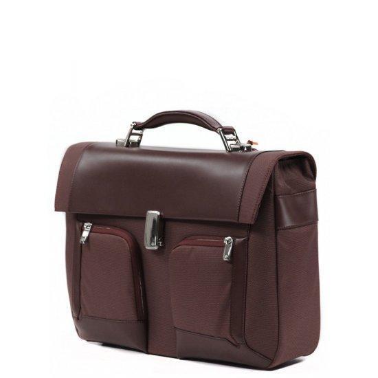 Бизнес чанта с 1 преграда Samsonite S-Teem за 15,4 инча лаптоп, тъмнокафява