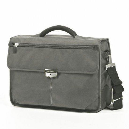 Бизнес чанта с 3 прегради Samsonite Avior за 16,4 инча лаптоп, сива