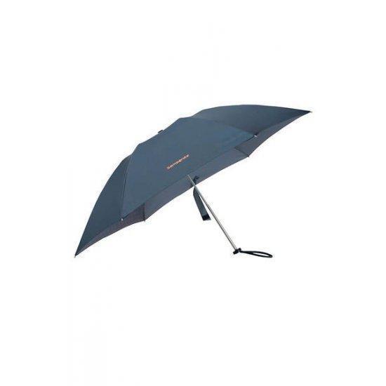 Тройно сгъваем ръчен чадър Samsonite Up Way Dark Blue/Mandarin Orange