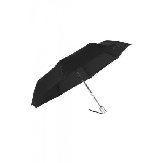 Тройно сгъваем черен автоматичен чадър Samsonite Rain Pro