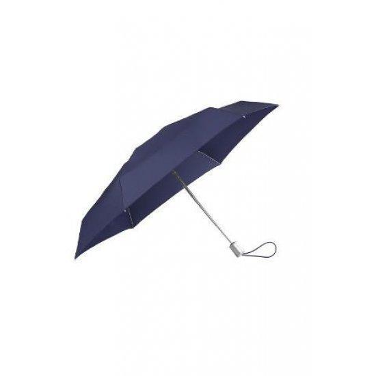 Тройно сгъваем автоматичен чадър Samsonite Alu Drop S TM тъмносин