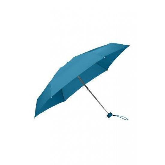 Петорно сгъваем ръчен мини-чадър Samsonite Minipli Colori S Sapphire Blue