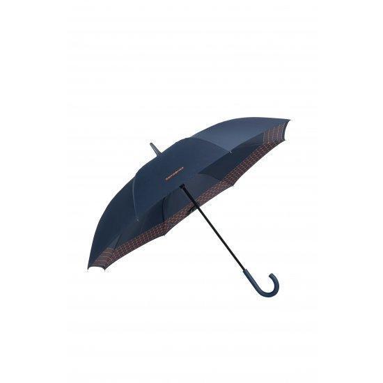 Мъжки автоматичен чадър Samsonite Up Way Dark Blue/Mandarin Orange