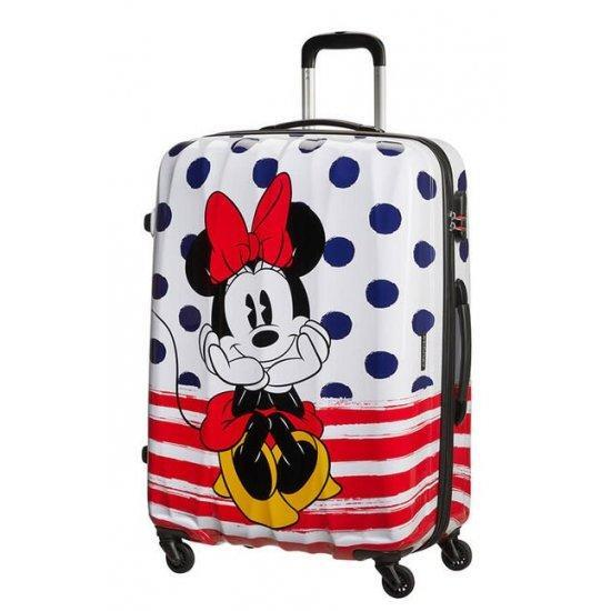 Куфар на 4 колела American Tourister Disney Legends Minnie 75 см на сини точки