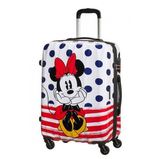 Куфар на 4 колела American Tourister Disney Legends Minnie 65 см на сини точки