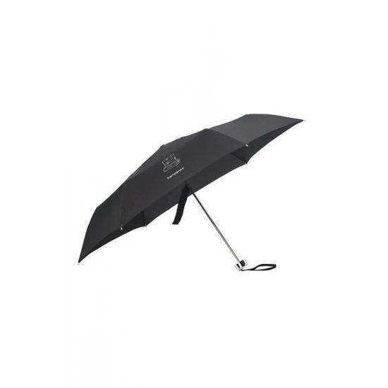 Тройно сгъваем ръчен чадър Samsonite Karissa Umbrellas черен