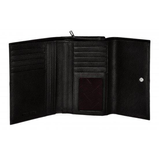 Стилен дамски портфейл от естествена кожа Samsonite, кафяв