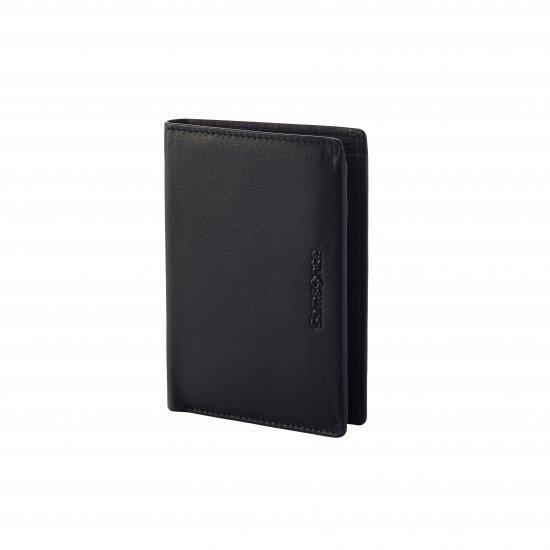 Мъжки портфейл от естествена кожа Samsonite Success 2 SLG, 4CC и RFID защита, черен
