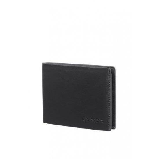 Мъжки портфейл от естествена кожа Samsonite Attack 2 SLG,10CC и RFID защита, черен