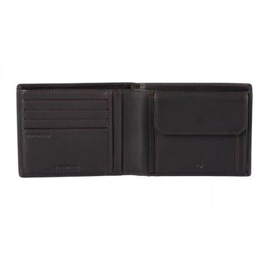 Мъжки портфейл от естествена кожа Samsonite Attack 2 SLG с монетник и RFID защита, кафяв