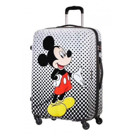 Куфар на 4 колелца American Tourister Disney Legends Mickey Mouse Polka Dot 65 см