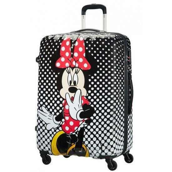 Куфар на 4 колелца American Tourister Disney Legends Minnie Mouse Polka Dot 75 см