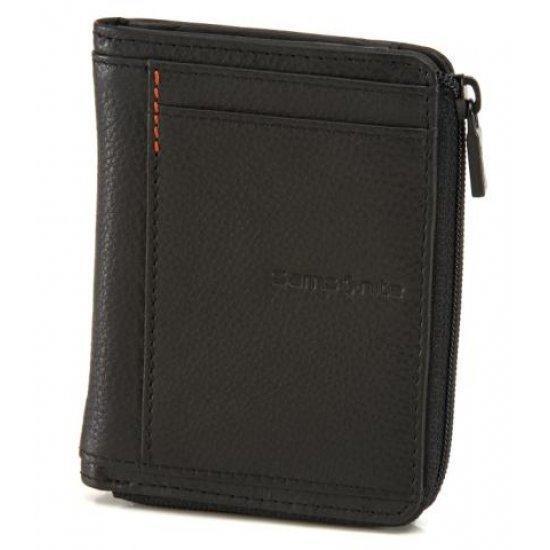 Елегантен мъжки портфейл с цип Samsonite Zenith, черен