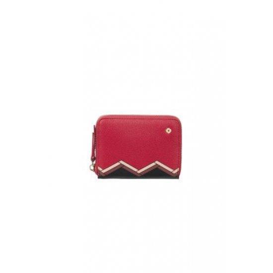 Мини дамски портфейл Samsonite Seraphina от 100% PU, червено и черно