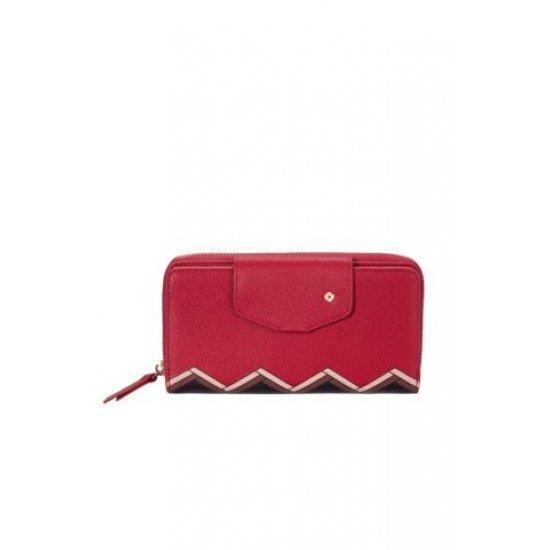 Дамски портфейл от 100% PU Samsonite Seraphina, червено и черно