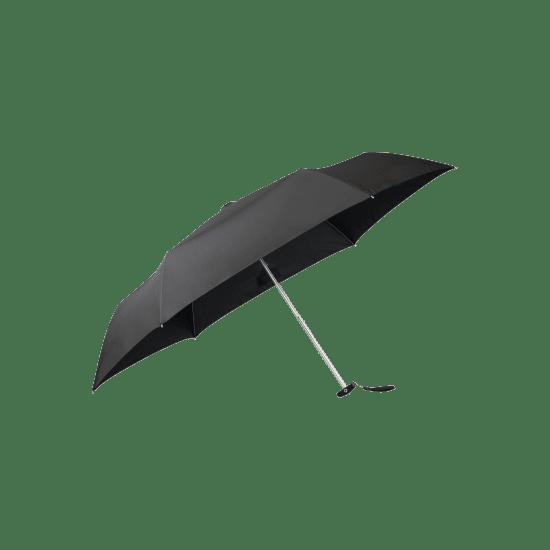 Мини тройно сгъваем ръчен чадър Samsonite Plu Essential, черен цвят