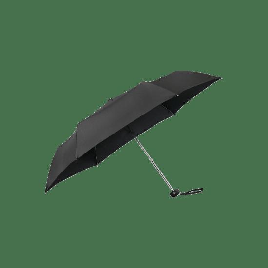Мини тройно сгъваем ръчен чадър Samsonite Plu Essential черен цвят