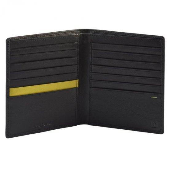 Мъжки портфейл от естествена кожа Samsonite OUTLINE 2 SLG черно/лайм