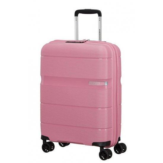 Куфар на 4 колелца American Tourister Linex 55 см, розов