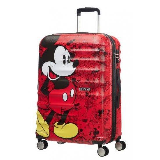 Куфар на 4 колела American Tourister Wavebreaker Mickey Comics Red 77 см.