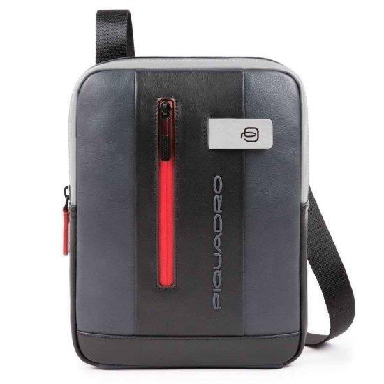 """Чантичка за през рамо Piquadro Urban  с отделение за iPad®10,5""""/iPad 9,7"""" сиво и черно"""