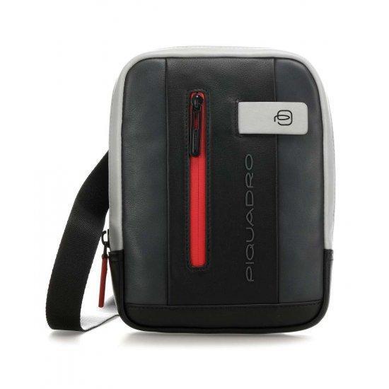 Вертикална чантичка за рамо Piquadro Urban с отделение за iPad MINI_ MINI 2_ iPad MINI 3 сиво и черно