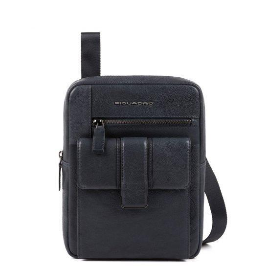 Вертикална чантичка за рамо Piquadro KOBE с отделение за iPad AIR - iPad Pro 9,7 синя