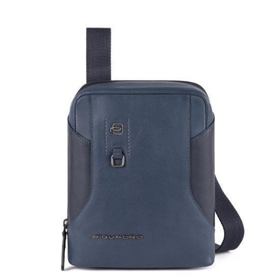 Вертикална чантичка за рамо Piquadro HAKONE с отделение за iPad MINI_ MINI 2_ iPad MINI 3 синя