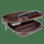 Blue Square Компактна вертикална чантичка за рамо с отделение за iPad mini/iPad mini3 в цвят махагон
