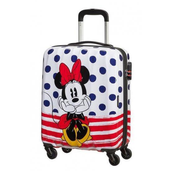 Куфар на 4 колела American Tourister Disney Legends Minnie 55 Х 40 см на сини точки