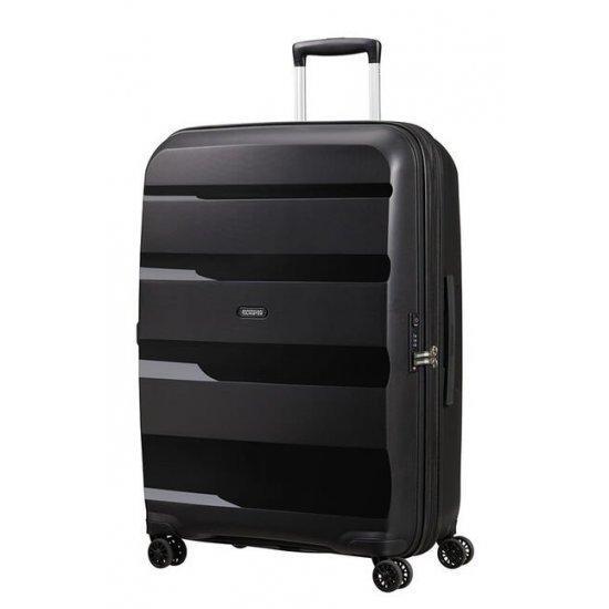 Куфар American Tourister Bon Air Dlx 75 см, с разширение черен цвят