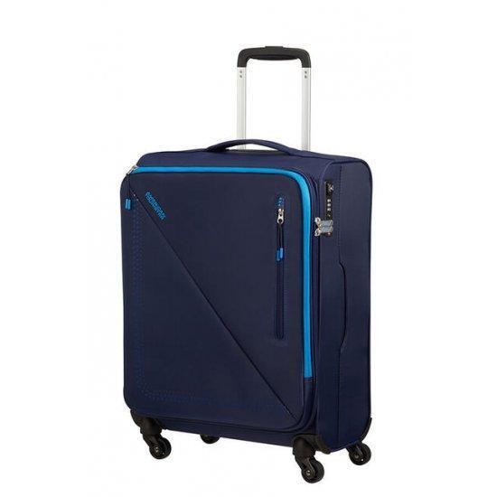 Куфар на 4 колела American Tourister Lite Volt 55 см тъмносиньо/светлосиньо