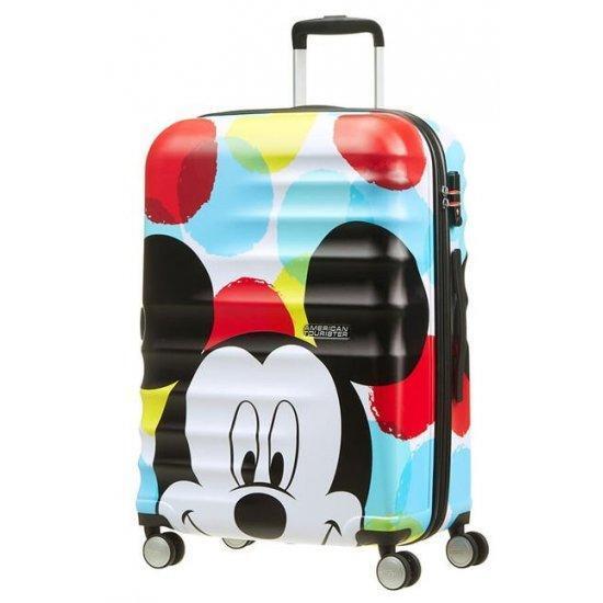 Куфар на 4 колела American Tourister Wavebreaker Mickey Close-Up 67 см.